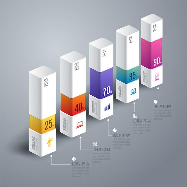 Elementi del grafico a barre colorate