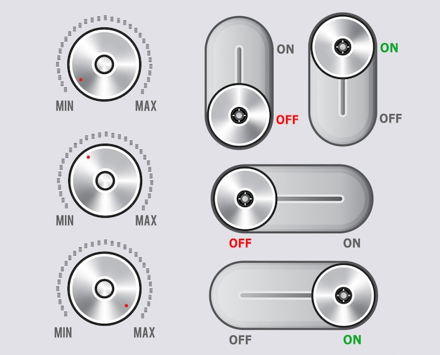 Elementi del kit ui, set di leve del cursore