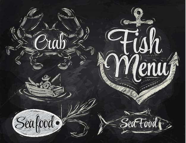 Elementi del menu di pesce