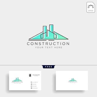 Elementi dell'icona di vettore del modello di logo di costruzione di architettura