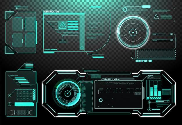 Elementi dell'interfaccia hud, ui, gui. set di titoli di callout di vettore.