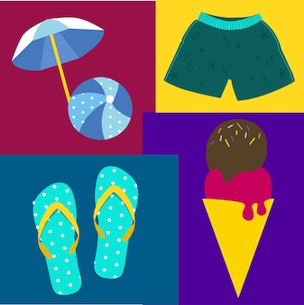 Elementi della spiaggia