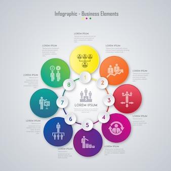 Elementi di business infografica