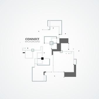 Elementi di cerchio quadrato linea