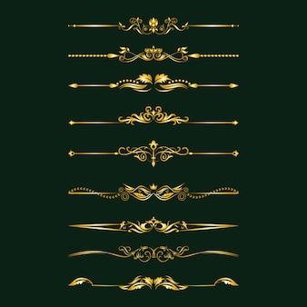 Elementi di design calligrafico.