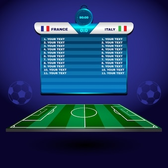 Elementi di design di calcio