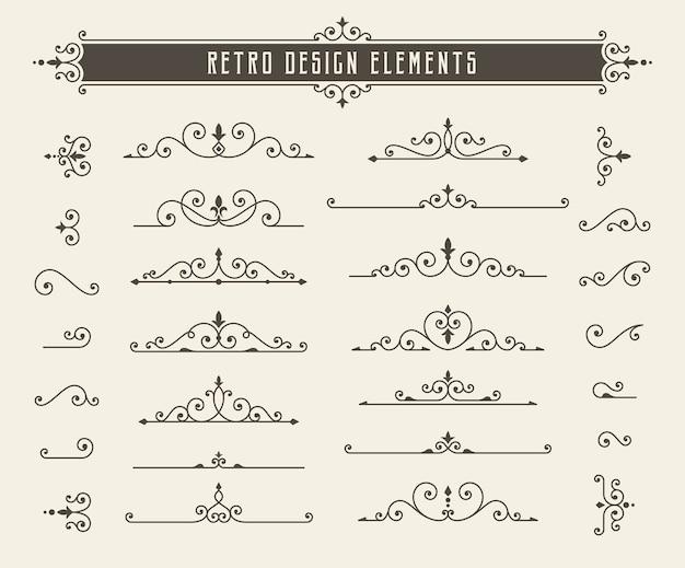 Elementi di design di linea retrò
