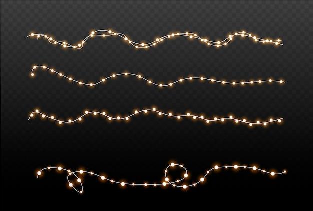 Elementi di design di luci incandescenti.