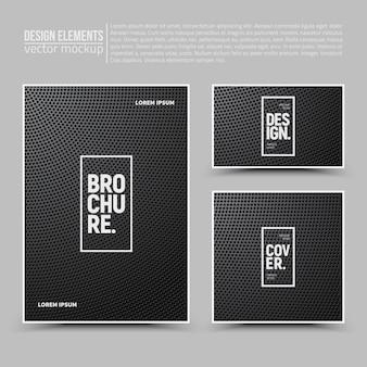 Elementi di design: flyer, carta, banner.