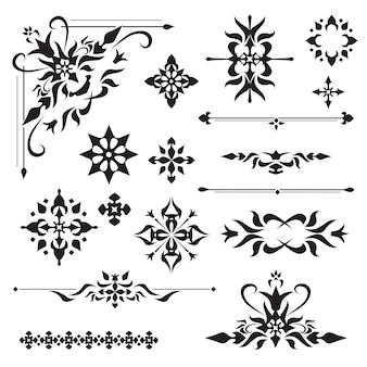 Elementi di design ornamentale