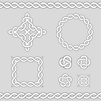 Elementi di design ornamentali celtici