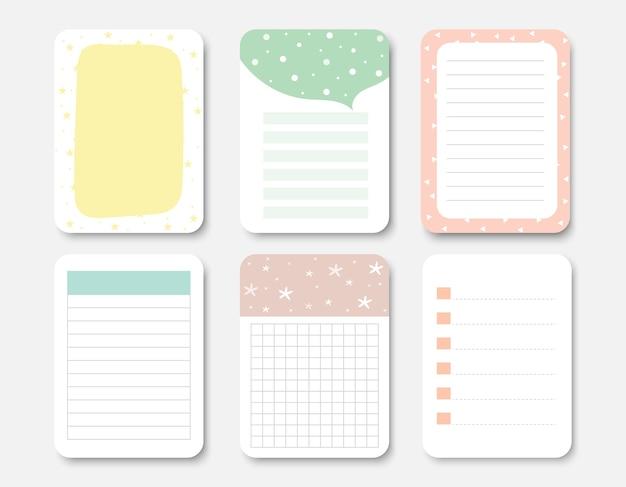 Elementi di design per notebook.