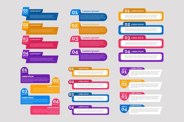 Elementi di design piatto infografica