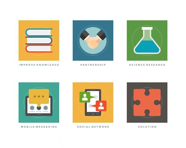 Elementi di design piatto