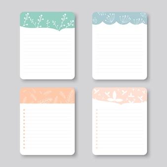 Elementi di design vettoriale per notebook