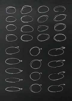 Elementi di disegno vettoriale matita