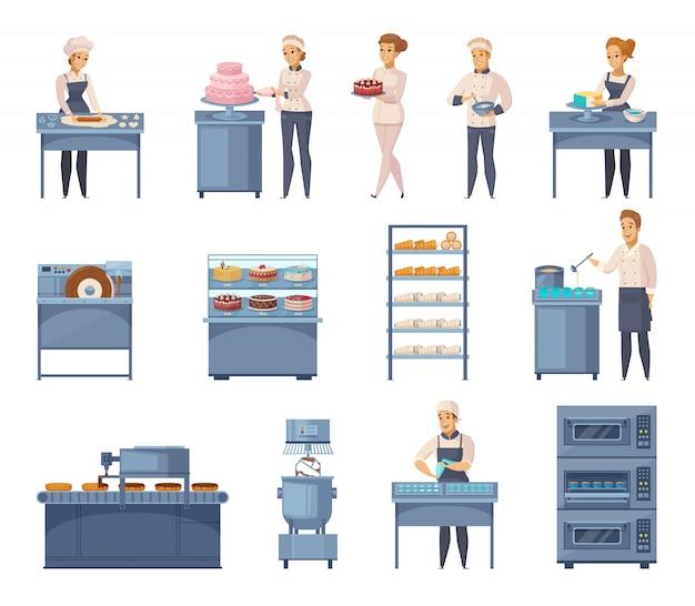 Elementi di fabbrica di pasticceria
