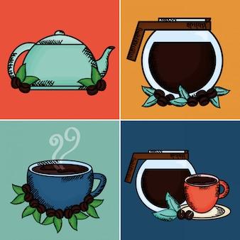 Elementi di impostazione del tempo del caffè