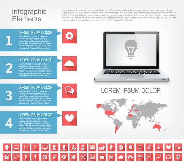 Elementi di infografica del settore it