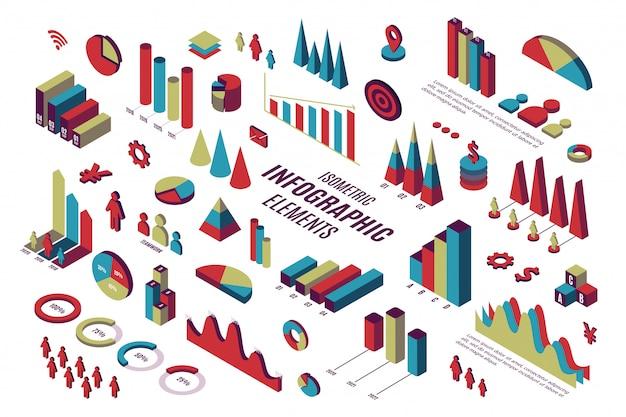 Elementi di infografica isometrica
