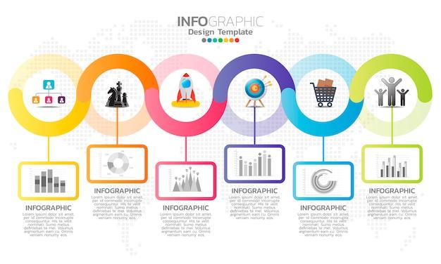 Elementi di infografica per contenuti.