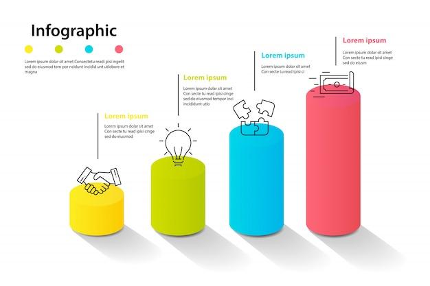 Elementi di infografica per la pianificazione di infochart