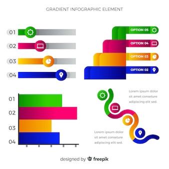 Elementi di infografica piatto con raccolta di statistiche