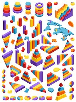 Elementi di infographic isometrici