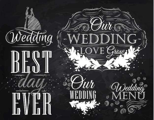 Elementi di nozze gesso