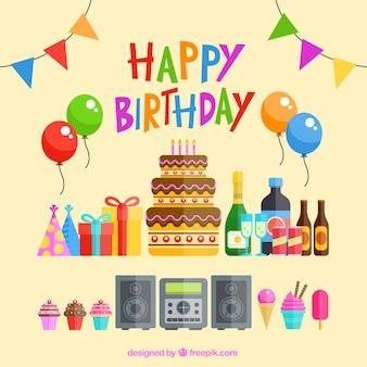 Elementi di partito di compleanno
