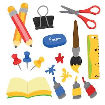 Elementi di scuola collezione