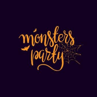 Elementi di tipografia modello festa di halloween.