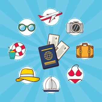 Elementi di vacanze al mare
