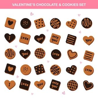 Elementi di vettore di san valentino - dolci