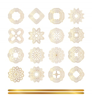 Elementi dorati orientali