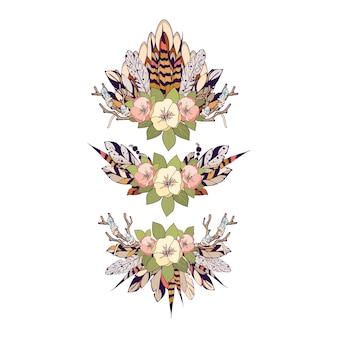 Elementi floreali boho