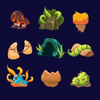 Elementi forestali per set da gioco