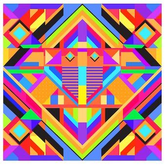 Elementi geometrici alla moda memphis greeting card design. stile retrò trama, modello ed elementi. modello di poster e copertina di design moderno astratto