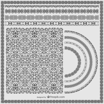 Elementi grafici ornamentali free download