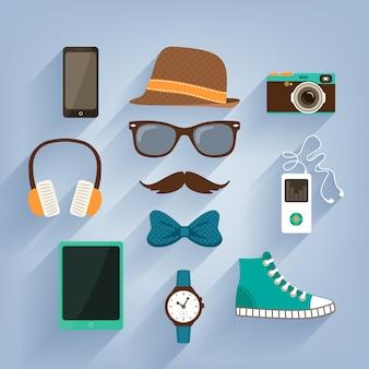 Elementi hipster collezione