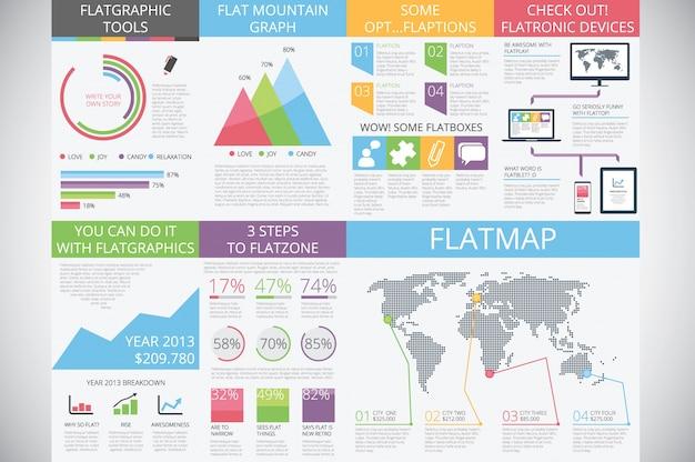 Elementi infografici in moda moderna: stile piatto