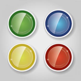 Elementi infographic colorati rotondi di vetro