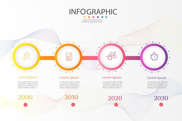 Elementi infographic del grafico di opzioni del modello 4 di affari