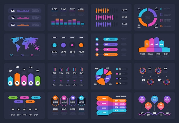 Elementi infographic di affari ser