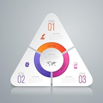 Elementi infographic di carta bianca per la presentazione
