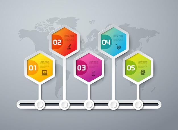Elementi infographic di cronologia