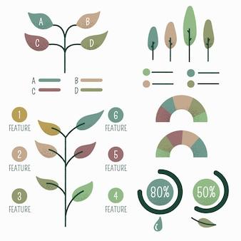 Elementi infographic disegnati a mano