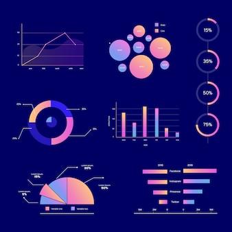 Elementi infographic piani