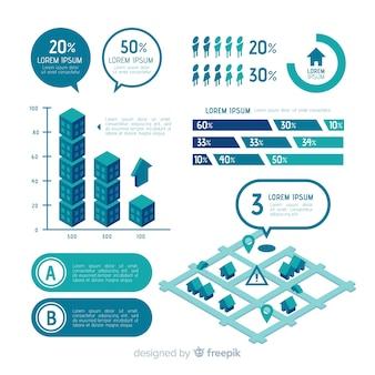 Elementi infographic piatte