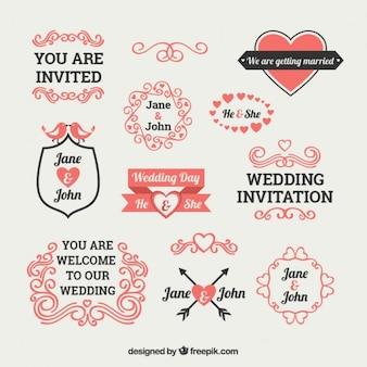 Elementi invito carino nozze